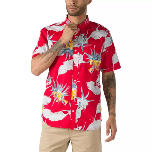 Vans Men's Arachnifloria Short Sleeve Button Down Shirt