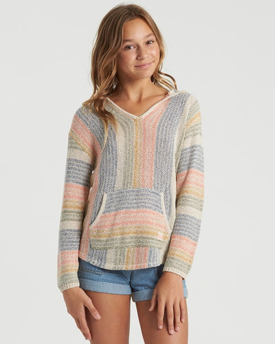 Billabong Girl's Baja Cove Hoodie/Sweater, White Cap