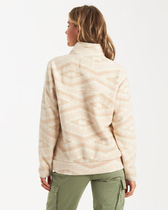 Billabong Women's Boundary Mock Neck Fleece, Neutral