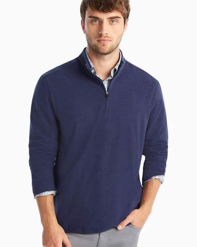 Johnnie-O Men's Brady Microfleece 1/4 Zip Pullover, Navy