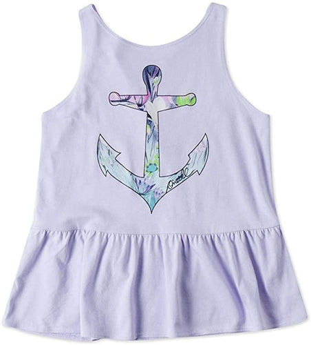 O'Neill Girls Calm Waters Tank Top, (WHT) White