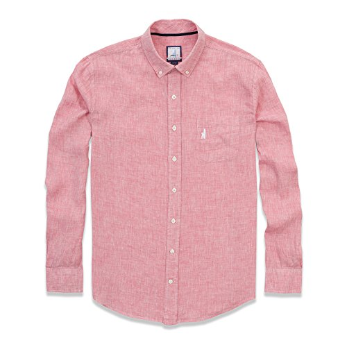 Johnnie-O Men's Cayman Button Down Shirt, Punch Pink, Size 2X-Large