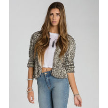 Load image into Gallery viewer, Billabong Women's Eyes On Me Sequin Crop Jacket, MTA (Metallic), Size Medium