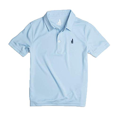 Johnnie-O Boys Fairway Perfromance Short Sleeve Polo Shirt, Gulf Blue, Boys Size 16