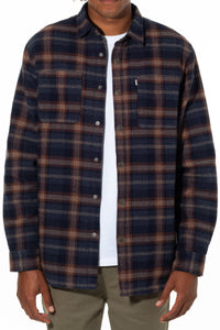 Katin Men's Harold Sherpa Lined Flannel Shirt/Jacket
