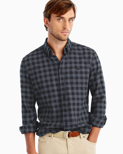 Johnnie-O Men's Hawkins Hangin Out Button Down Shirt, Twilight
