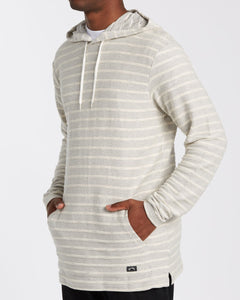 Billabong Men's Flecker Lite Pullover Hoodie, Off White