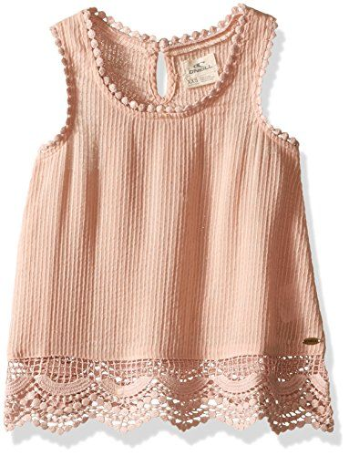O'Neill Girls Mackenzie Tank Top, (ROS) Rose, Girls Size Small (7)