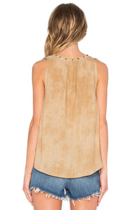 Amuse Society Junior's Marielle Henley Top, (OLV) Olive, Size Medium