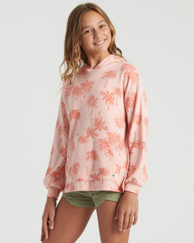 Billabong Girl's Palms Forever Sweatshirt, Peachy