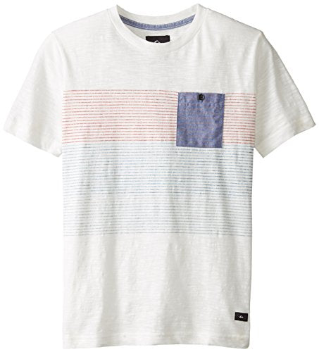 Quiksilver Boy's Stranger Short Sleeve T-Shirt, Snow White