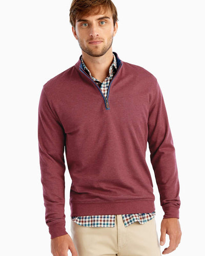 Johnnie-O Men's Sully 1/4 Zip Pullover, Cranberry