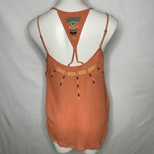 Load image into Gallery viewer, Rip Curl Juniors Sun Warrior Boho Embroidery Tank Top, (RST) Rust