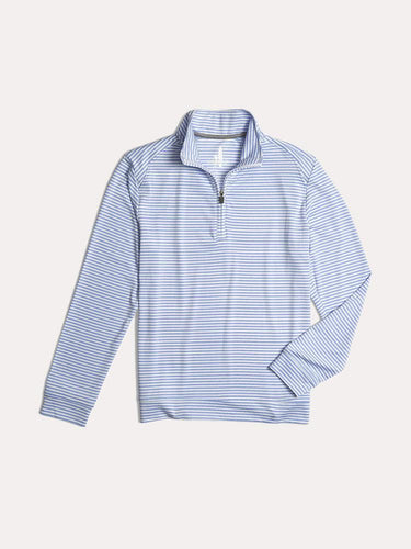 Johnnie-O Boy's Turn Lightweight 1/4 Zip Performance Pull Over, Clearwater