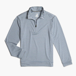 Johnnie-O Boy's Turn Lightweight 1/4 Zip Performance Pull Over, Lake Blue