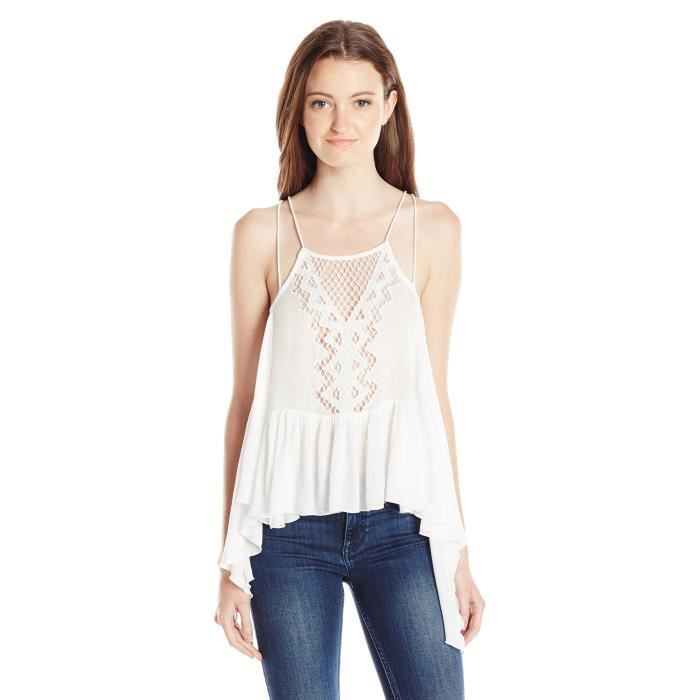 Rip Curl Juniors Vagabond Embroidery Tank, (WHI) White
