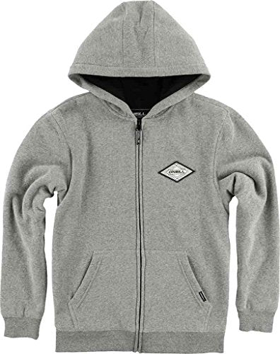 O'Neill Boy's Westport Thermal Zip Hoodie, Heather Grey