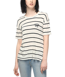 Vans Women's Zeppelin Tee, White Sand, Size Medium