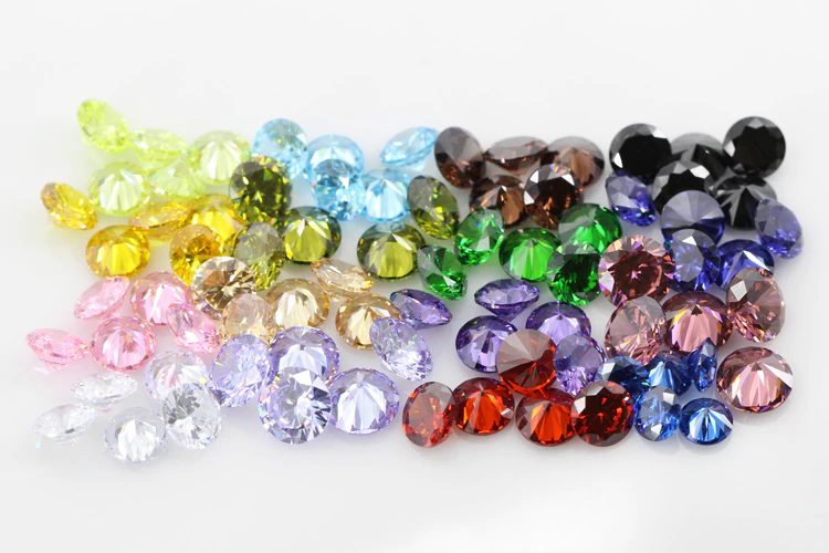 colorful moissanite