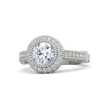 Top 3 Under $8000 Vintage Moissanite Engagement Rings