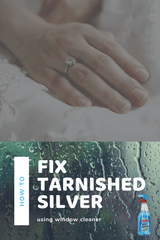 How To Fix & remove Tarnished Silver using window cleaner