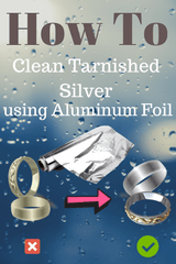How does cleaning silver with aluminum foil work