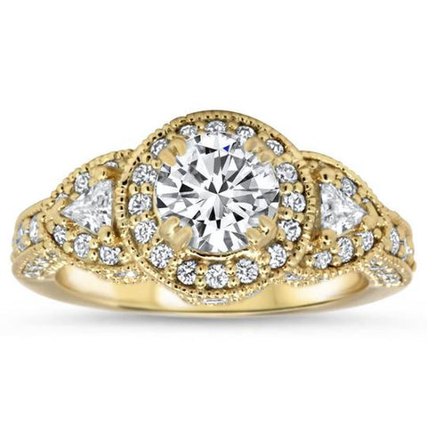 Top 3 Under $4000 Vintage Moissanite Engagement Rings