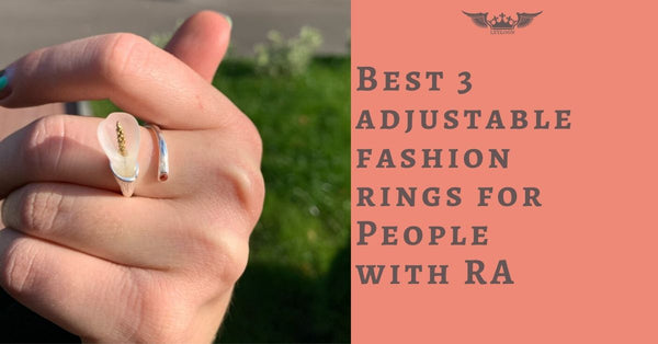 adjustable fashion rings for People with arthritis RA
