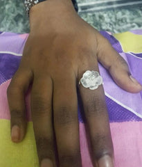 Best silver ring on dark skin