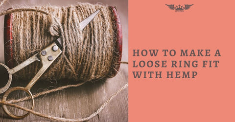 HOW TO MAKE A LOOSE RING Smaller WITH HEMP