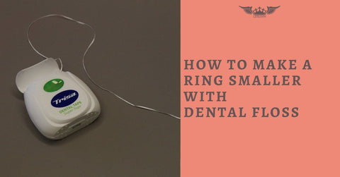 HOW TO MAKE A RING SMALLER WITH DENTAL FLOSS