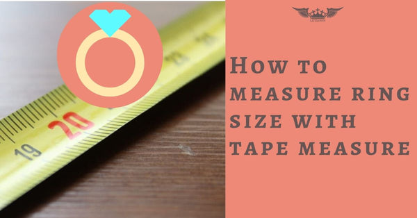 How to measure ring size with tape measure
