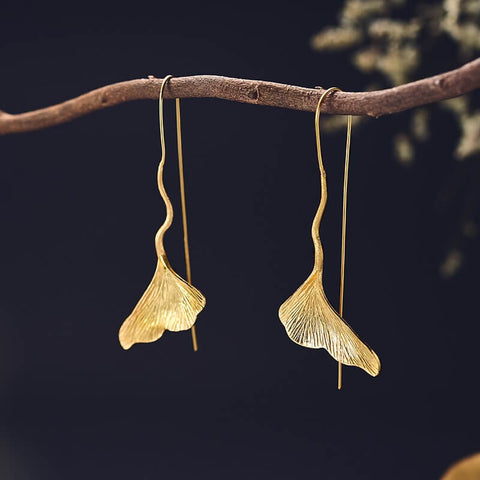 INSPIRATIONAL JEWELRY FOR CANCER PATIENTS - Ginkgo Earrings