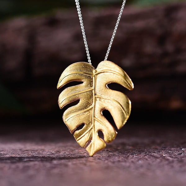 Jewelry Presents for Grown Up Daughters - Monstera Pendant