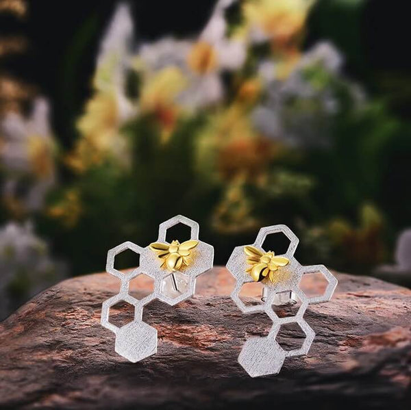 Jewelry Presents for Grown Up Daughters - Honeycomb Earrings