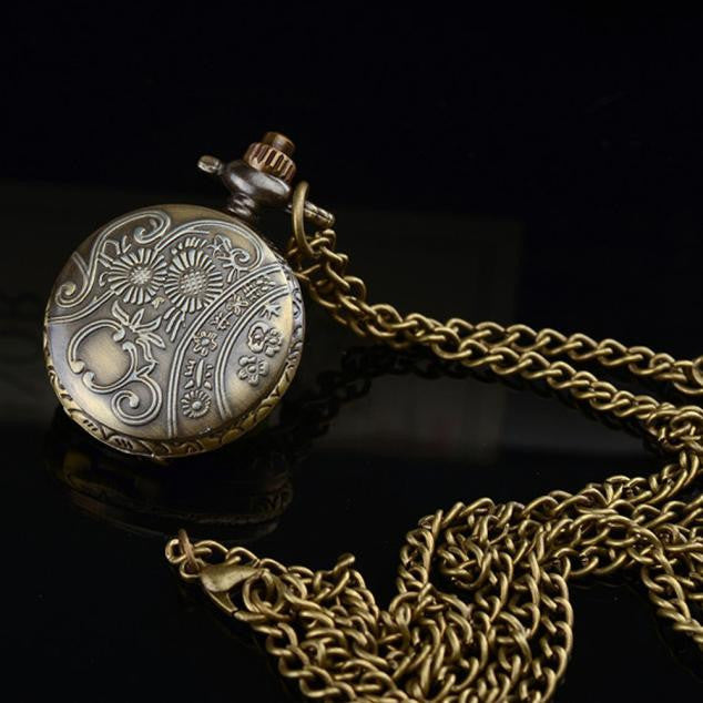 Alloy Antique Pocket Watch With Chain - Retro Revolution