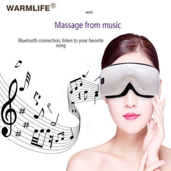 Foldable Electric Eye Massager Heat Compression Wireless Bluetooth Music Eyes Care Mask - howgoodstore