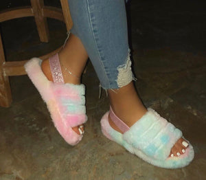 Sicily Cotton Candy Slippers