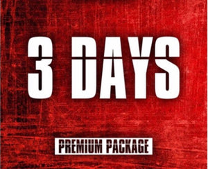 3 Day Premium Package