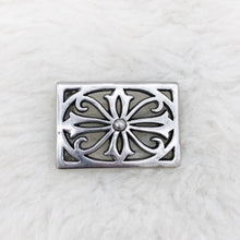 Load image into Gallery viewer, Silver Design Belt Buckle