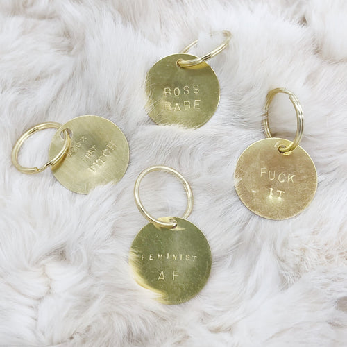 Hand-Stamped Brass Keychain - Independent Mountain Jewelry