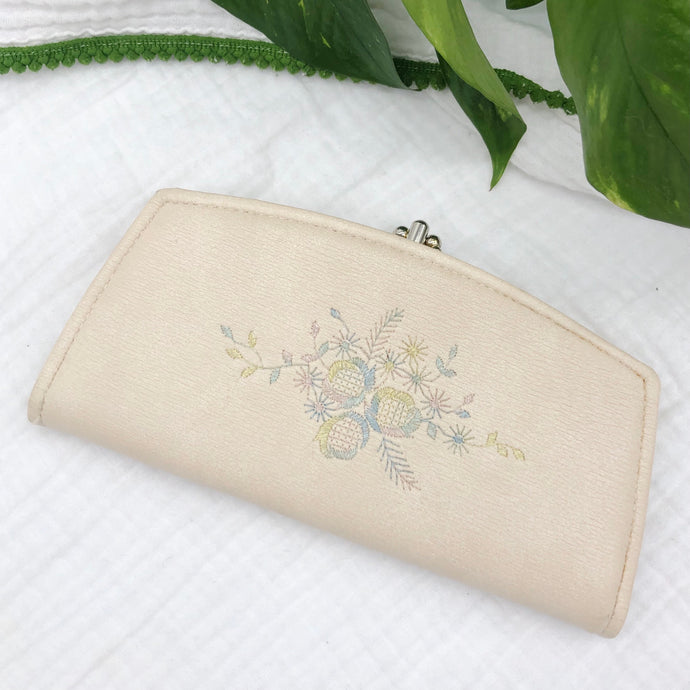 Leather Wallet with Embroidery