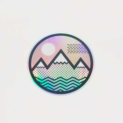 Vibe Mountain Hologram Sticker - Coloradical