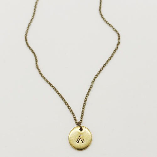 Tiny Stamped Necklace - Independent Mountain Jewelry