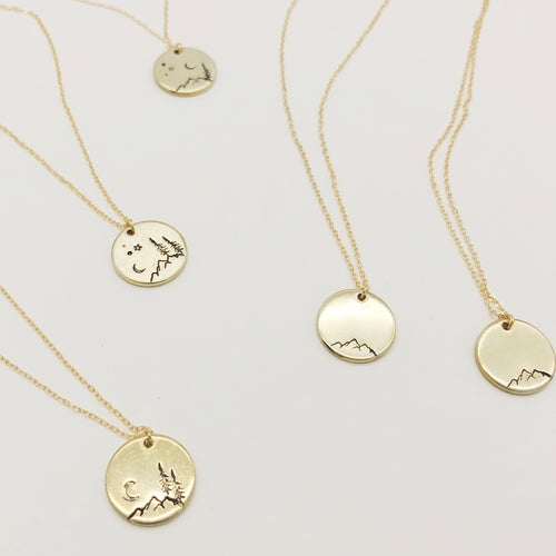 Stamped Coin Necklace - Spicy Heart