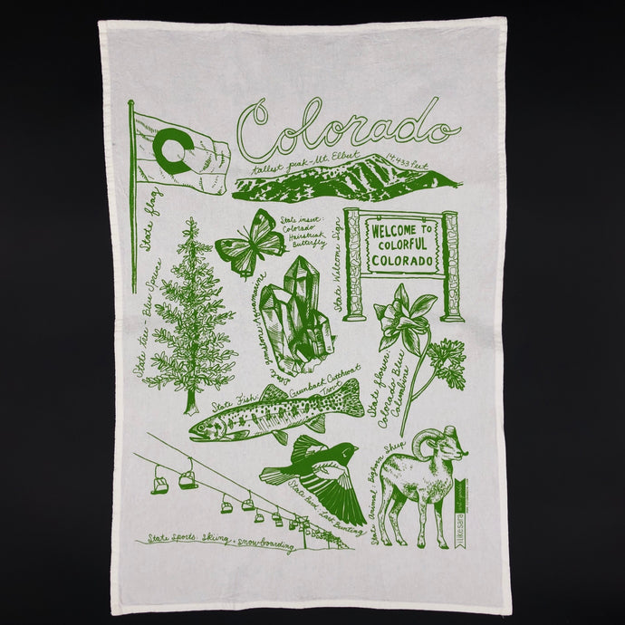 Colorado State Symbols Tea towel - I Like Sara
