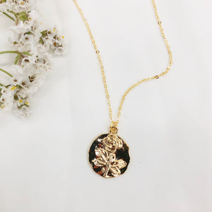 Rose Wax Seal Necklace  - Heritage & Bloom