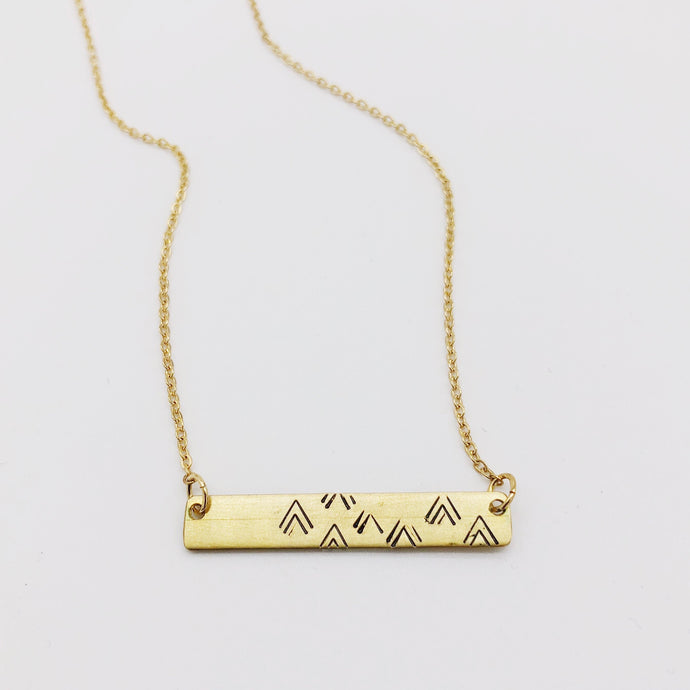 Mountain Necklace - Independent Mountain Jewelry