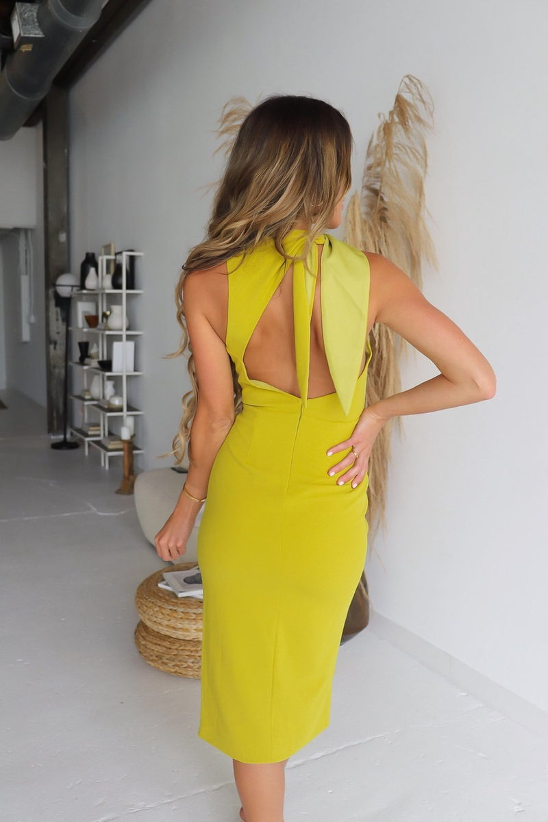 Alma Open Back Tie Dress