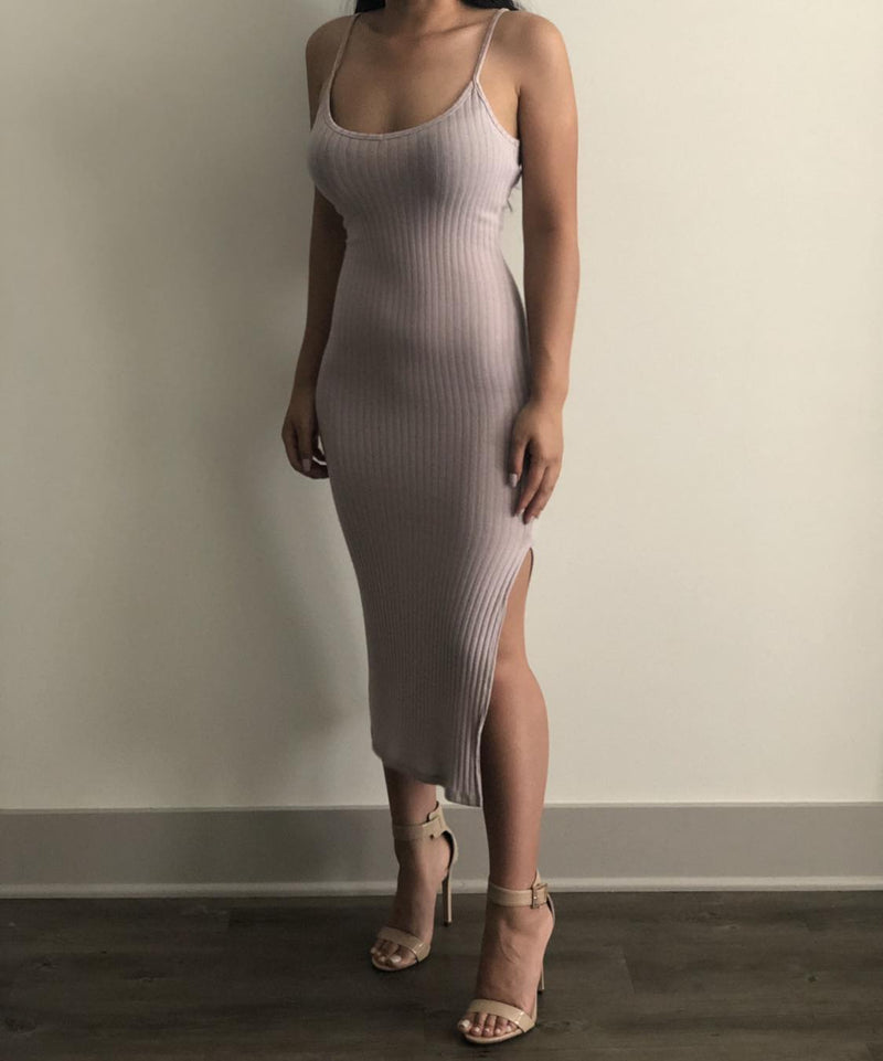 Heather Strap Slit Dress